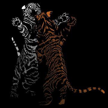 Playful Tiger Cubs by LindasDesign