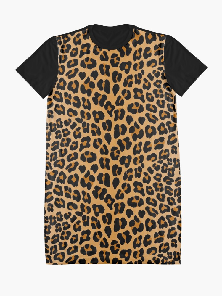 Alternate view of Leopard print Graphic T-Shirt Dress