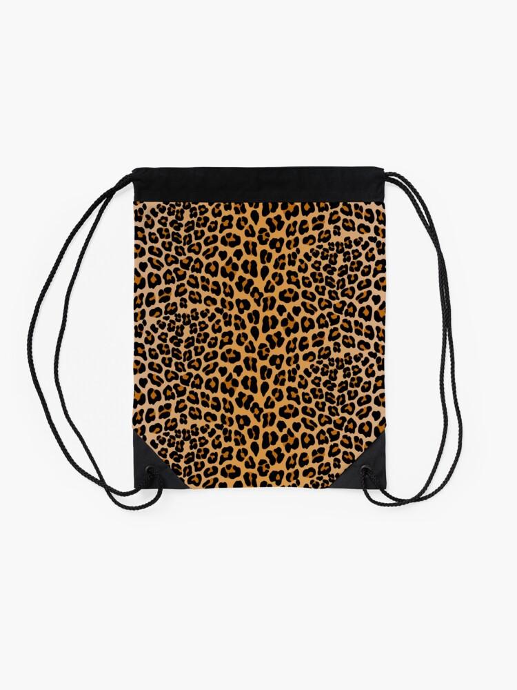 Alternate view of Leopard print Drawstring Bag