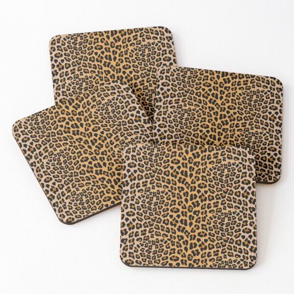Leopard print Coasters (Set of 4)