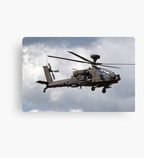 British Army Air Corps AugustaWestland Apache AH.1 Helicopter Canvas Print