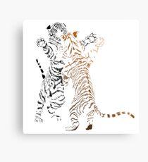 Playful tiger cubs version 2 Canvas Print