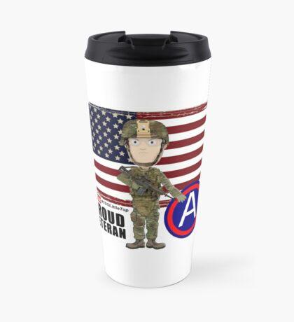 Proud Veteran 3rd Army Travel Mug