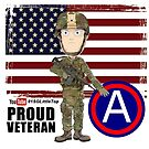 Proud Veteran 3rd Army by 1SG Little Top