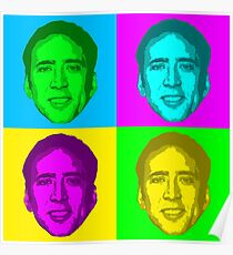 Nicolas Cage Pop ART Poster