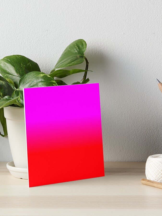 Neon Red Fire And Hot Pink Ombre Shade Color Fade Art Board Print