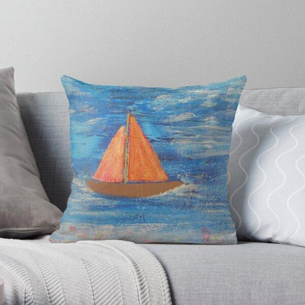 Reef Sailing Throw Pillow