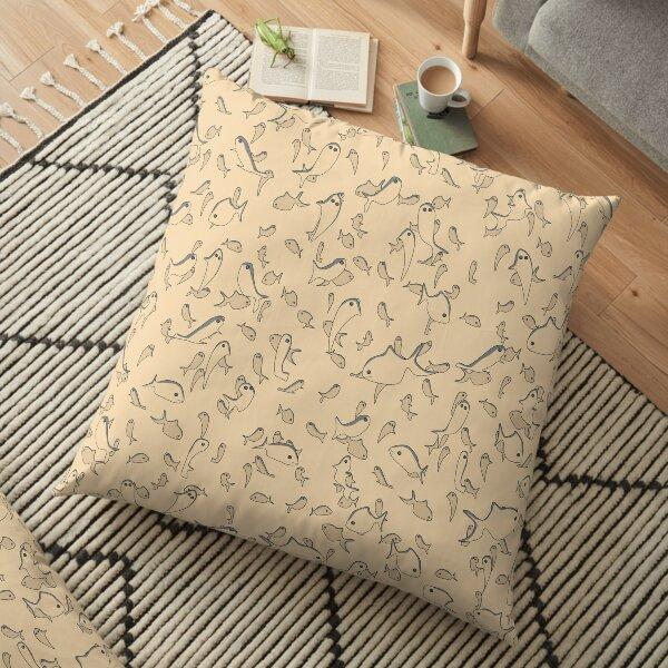 Lots of Fish Pattern Floor Pillow