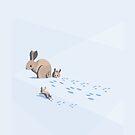 Winter Rabbit Family by ChelseaPray