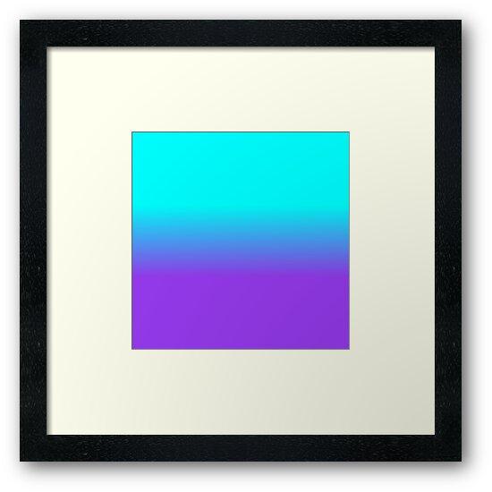 Purple Neon and Aqua Blue Ombre Shade Color Fade