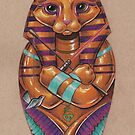 Kitty Sarcophagus (or Sarcatagus?) by justteejay