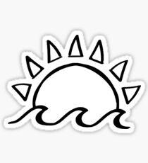 Sun & Waves Sticker