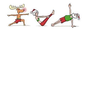 Yoga Christmas Shirt And Mug by Galvanized