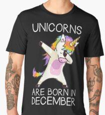 Unicorns are Born in December: Cute T Shirt Dabbing Hip Hop Men's Premium T-Shirt