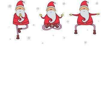 Yoga Christmas Santa Shirt And Mug by Galvanized