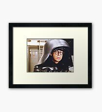 Dark Helmet Framed Print