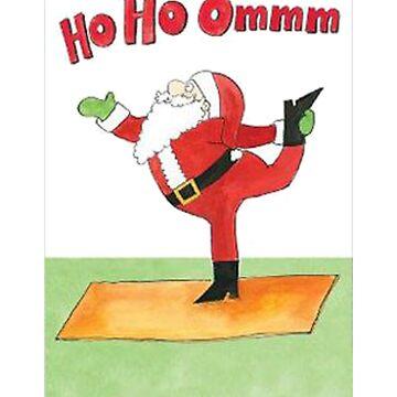 Santa Yoga Shirt And Mug by Galvanized