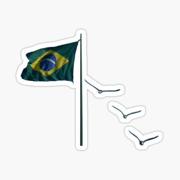 Winds of Brazil - blue Sticker