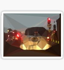 Red Light Los Angeles Low Poly Cityscape Sticker
