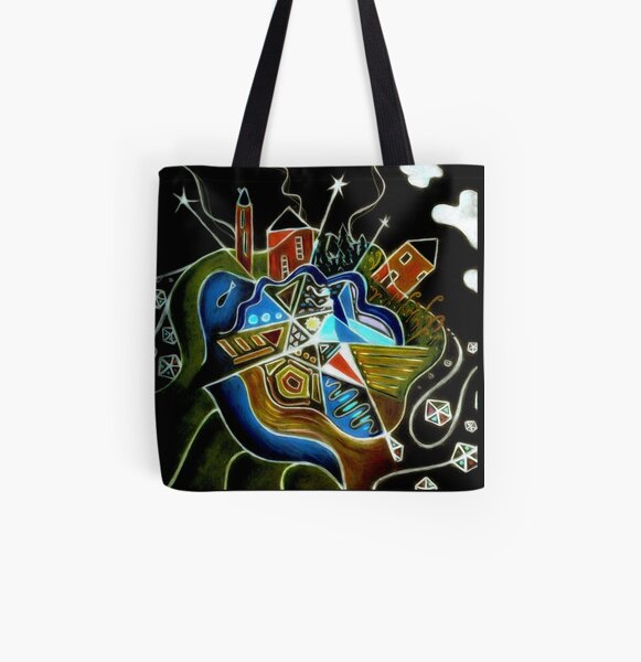 Take Five All Over Print Tote Bag
