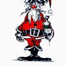 Vintage Drunken Santa Claus by hilda74