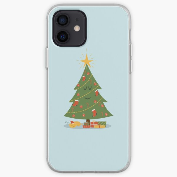 The Christmas Tree and The Cat iPhone Soft Case