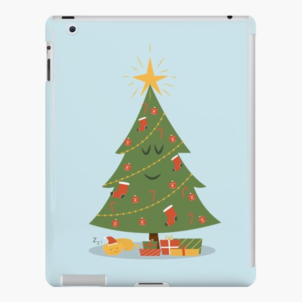 The Christmas Tree and The Cat iPad Snap Case