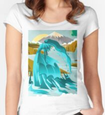 water elemental fantasy creature Women's Fitted Scoop T-Shirt