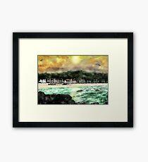 Millport Shore-Front, Insel Cumbrae, Westküste von Schottland [2] Gerahmter Kunstdruck