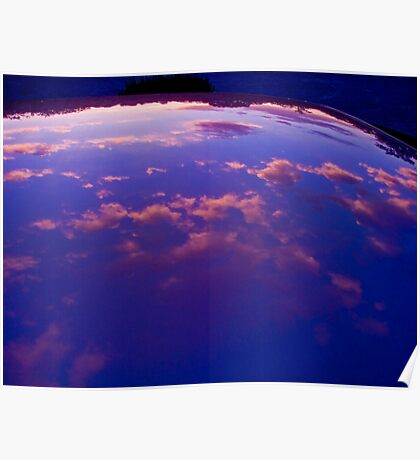 Sunset refection Poster