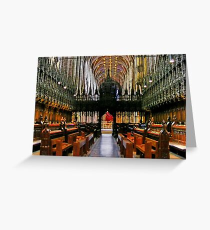 The Nave of Chester Anglican Cathedral UK, Greeting Card