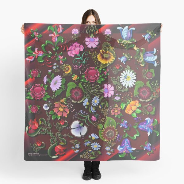 D1G1TAL-M00DZ ~ FOLKART ~ FLORAL ~ Kunterbunt Floral Medley by tasmanianartist Scarf