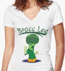 Brocc Lee - parody Rock Lee  Women's Fitted V-Neck T-Shirt