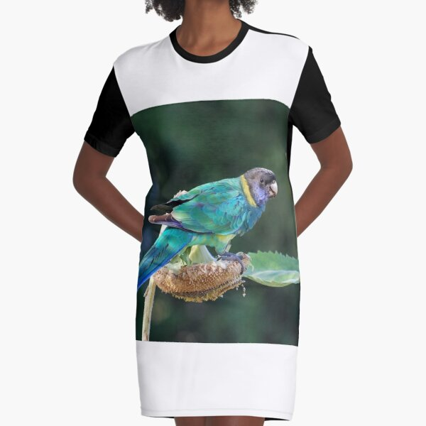 Are you watching me? - Port Lincoln Parrot Graphic T-Shirt Dress