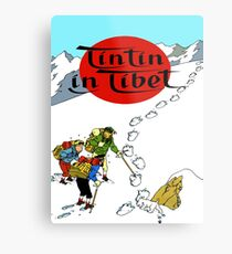 Tintin in tibet cover poster Metal Print