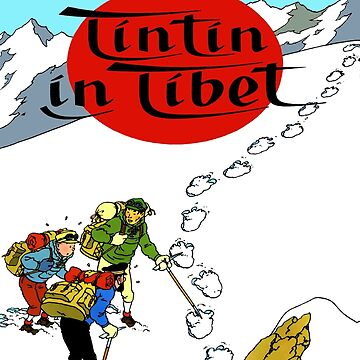 Tintin in tibet cover poster by bernys