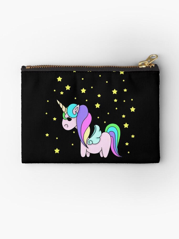 Rainbow unicorn with stars by rainbowcho