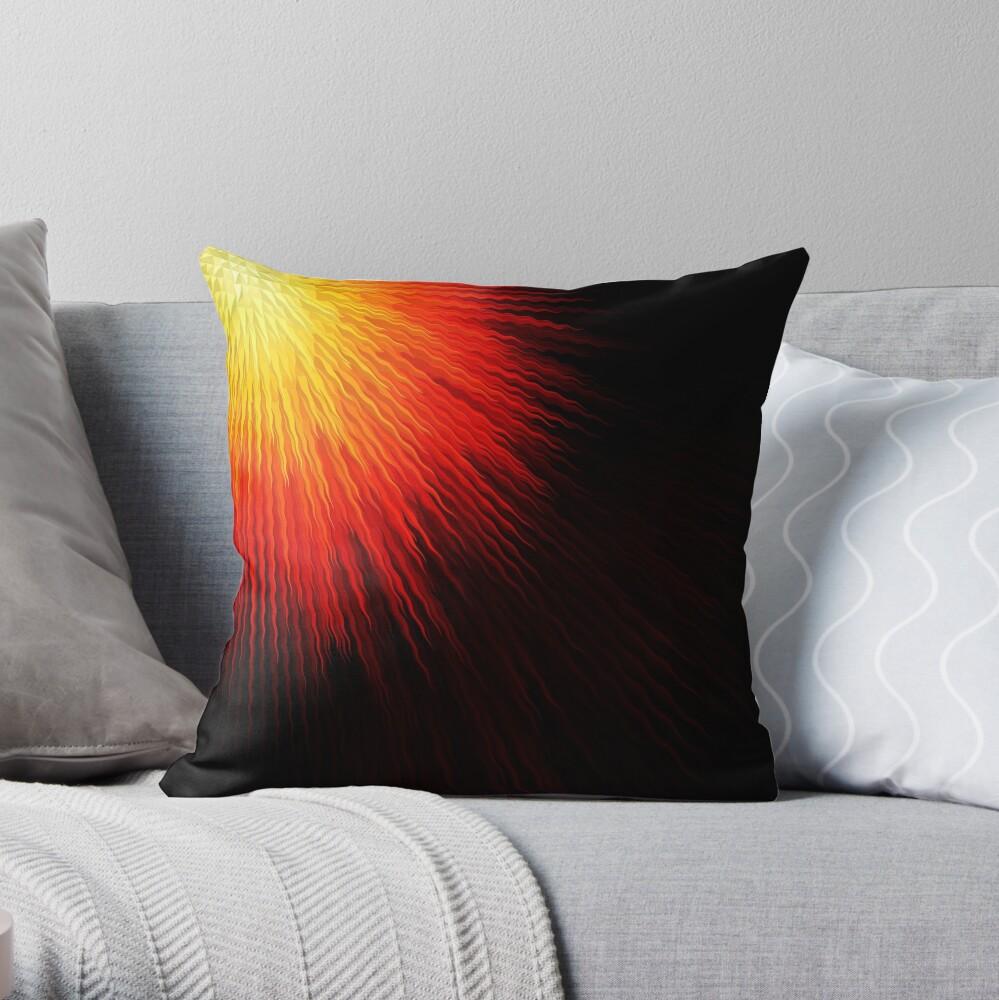 Fiery sun Throw Pillow