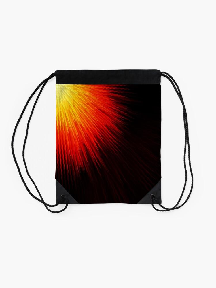 Alternate view of Fiery sun Drawstring Bag