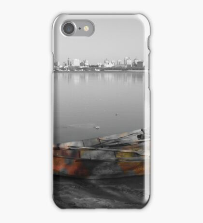 boats-Along the riverB iPhone Case/Skin