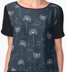 Floral pattern of dandelions Women's Chiffon Top