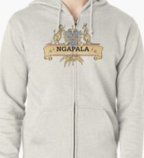 Ngapala Coat Of Arms Zipped Hoodie