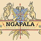 Ngapala Coat Of Arms by Jed Dunstan