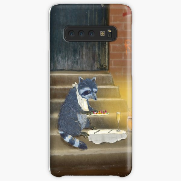 raccoon dining out Samsung Galaxy Snap Case