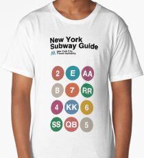 New York Subway Guide // White Long T-Shirt