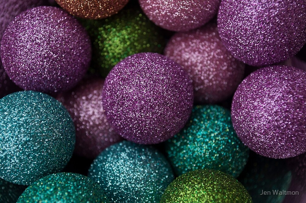Christmas 2017 Sparkly Baubles by Jen Waltmon