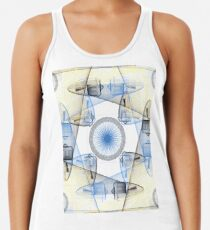 Jet Engines and Koi Fish Racerback Tank Top
