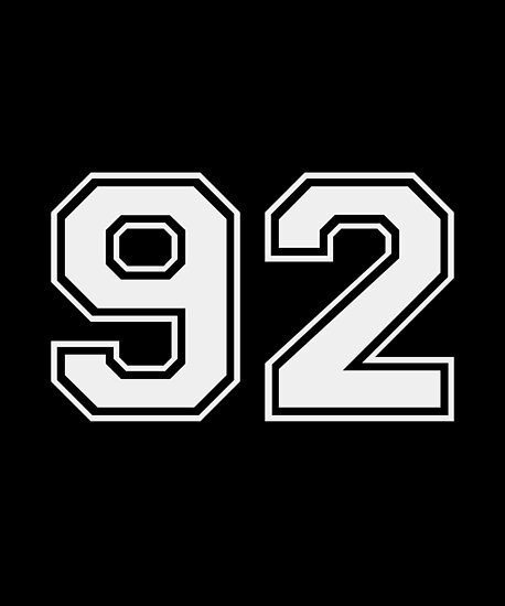 U0026quot 92 Sports Jersey Number Gift For Fan Or Player  92