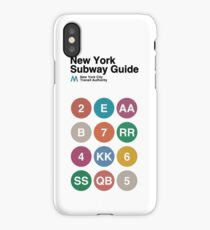 New York Subway Guide // White iPhone Case