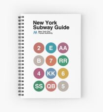New York Subway Guide // White Spiral Notebook
